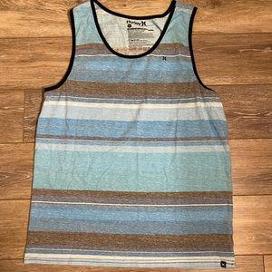 Men's Hurley Stripe Tank Top Sz XL